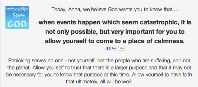 God's message for Anna